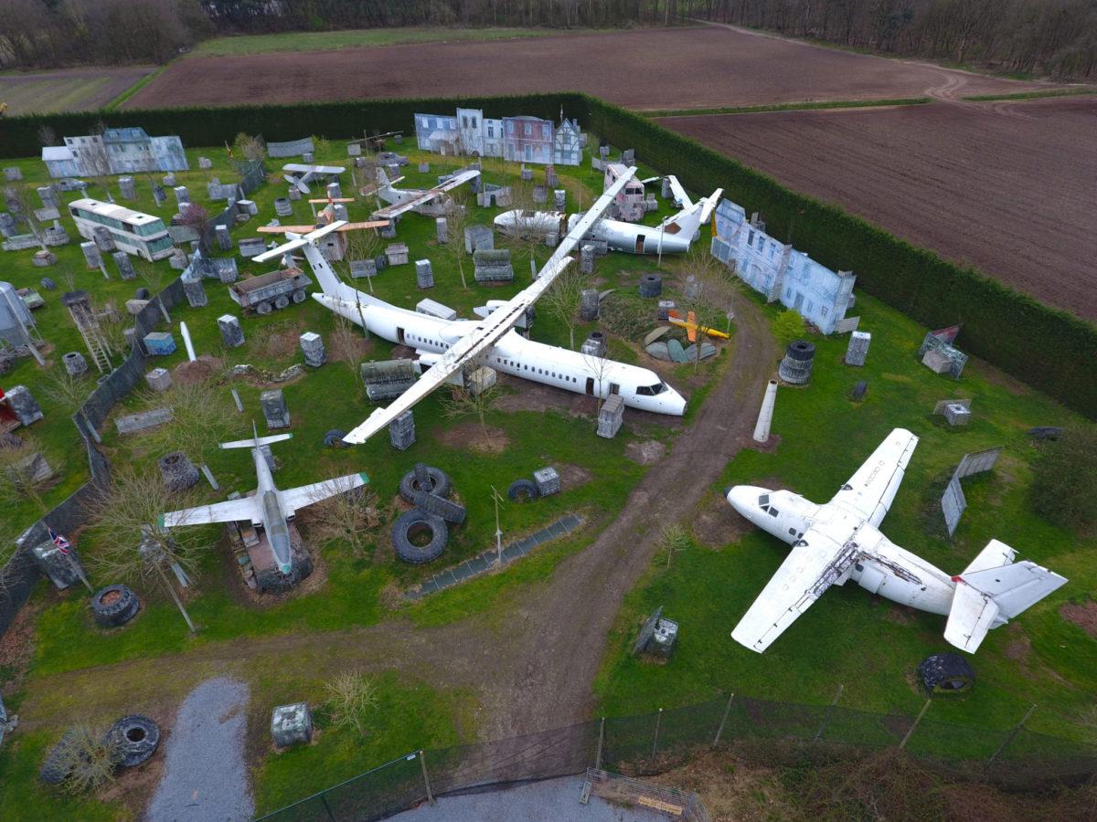 Paintball vliegtuig graveyard venhorst